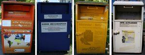 Container für Altkleidung