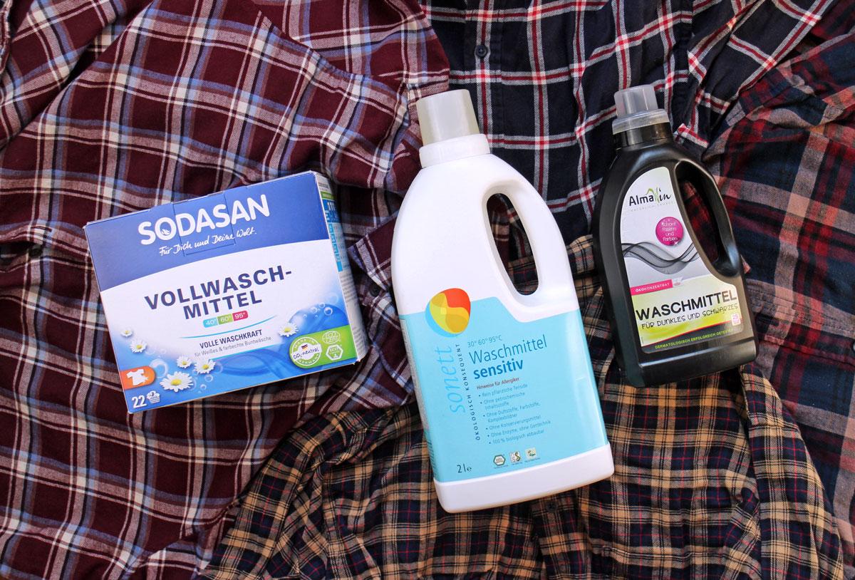 Öko Waschmittel von Almawin, Sonett und Sodasan