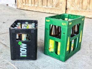Limo- und Saftkasten: Mit Mehrweg lassen sich Ressourcen sparen.