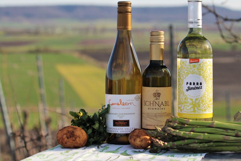 Spargel Wein Gemüse Frühjahr