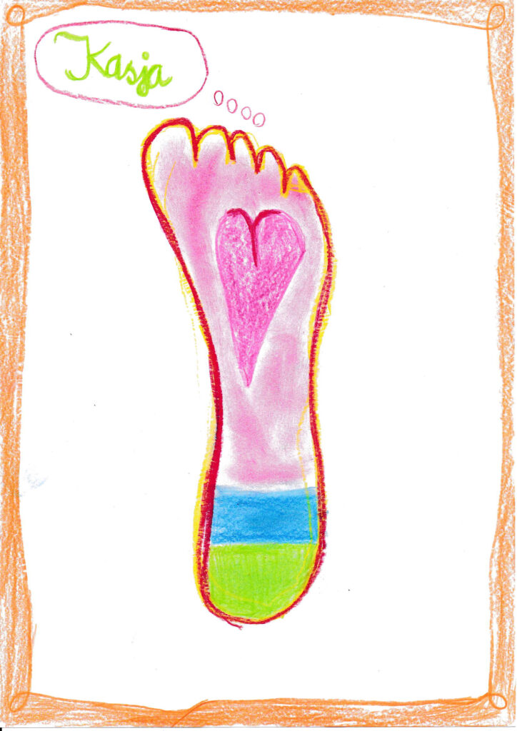 Fußabdruck für die Aktion Fußabdruck
