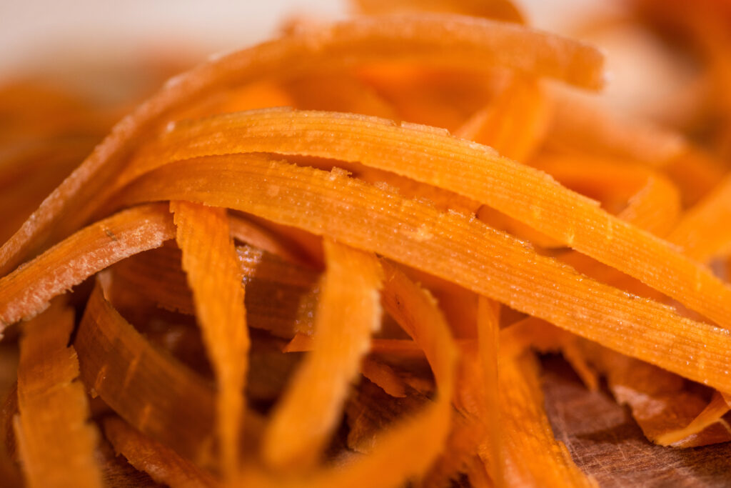 Karottenschalen