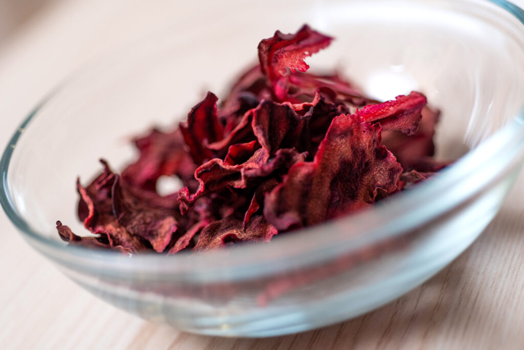 Rote Bete - Chips Nahaufnahme