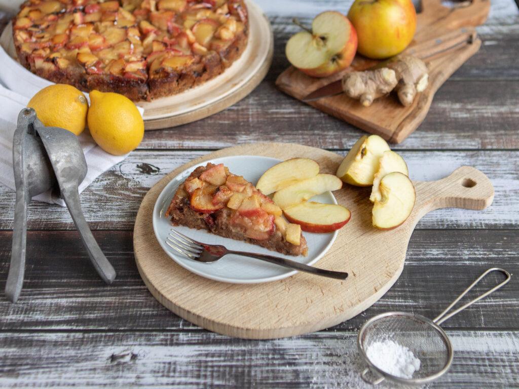 Apfel-Brotkuchen aus altbackenem Brot