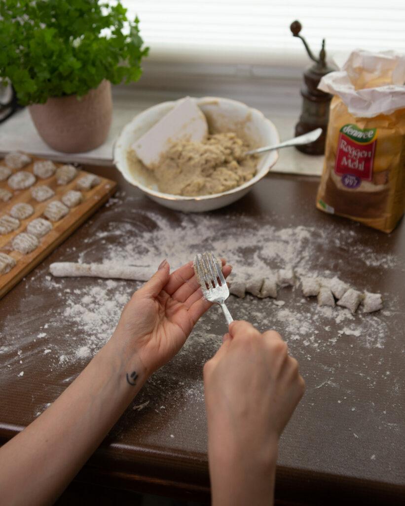 Gnocchis werden zubereitet